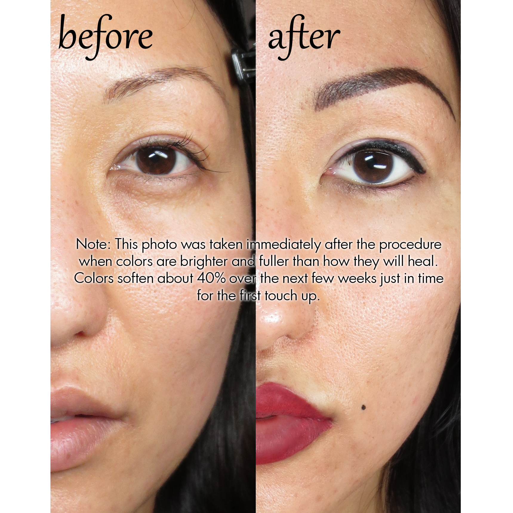 Permanent Makeup Eyebrows Before After And Healed | Fay Blog